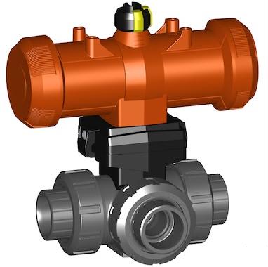 三通球阀285型PVC-U,溶剂水泥插座