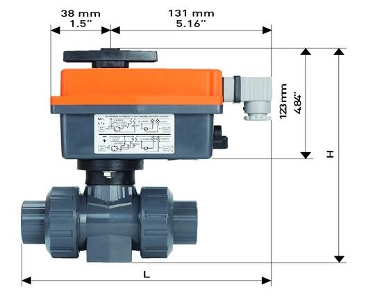 104型电动球阀PVC-U,100-230V